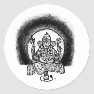 Sticker Rond ganesh
