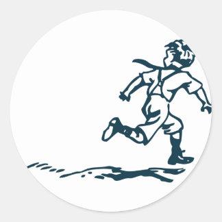 Sticker Rond Garçon courant