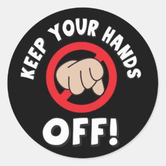 Sticker Rond Gardez vos mains