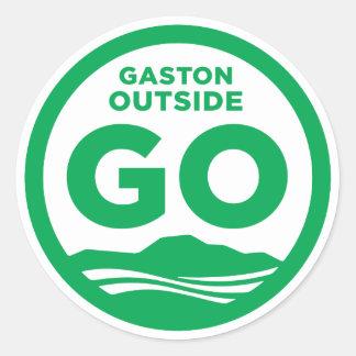 Sticker Rond Gaston en dehors d'autocollant