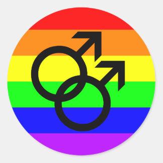 Sticker Rond Gay pride