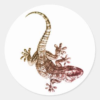 Sticker Rond Gecko