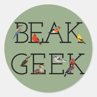 Sticker Rond Geek de bec