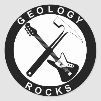 Sticker Rond Geology Rocks Adhesive