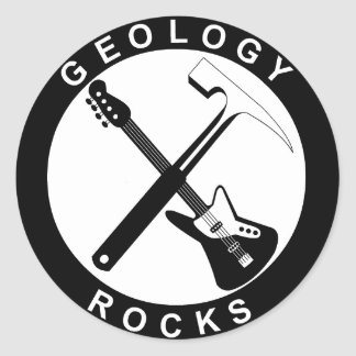 Sticker Rond Geology Rocks Adhesive S