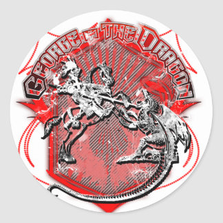Sticker Rond George et le dragon