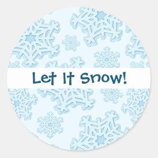 Sticker Rond Glace bleue de Noël de neige de Noël de Noël de