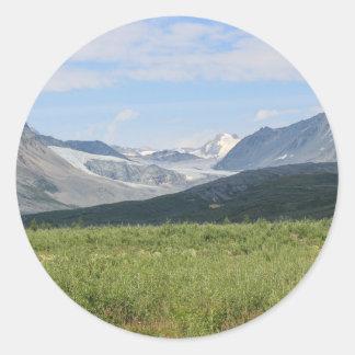 Sticker Rond Glacier