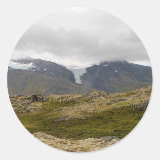 Sticker Rond glacier16