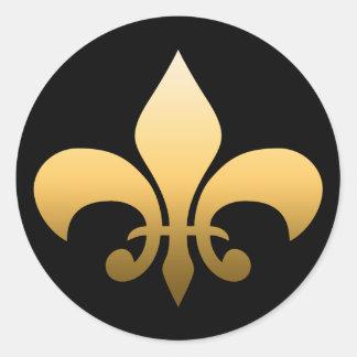 Sticker Rond Gold Fleur de Lis