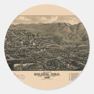 Sticker Rond golden1882
