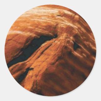 Sticker Rond gonflement de la roche rouge