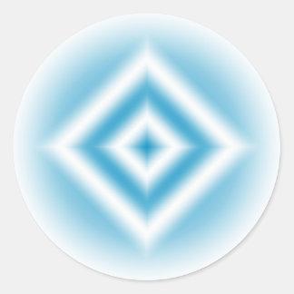 Sticker Rond gradient bleu de diamant de Personnaliser-ciel