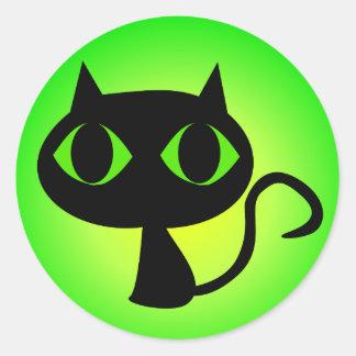 Sticker Rond Gradient vert noir de Kitty