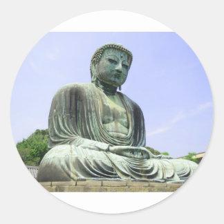Sticker Rond Grand Bouddha