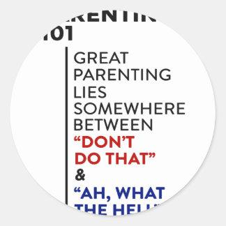 Sticker Rond Grand conseil de condition parentale du Parenting