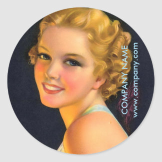 Sticker Rond grand photographe gatsby de coiffeur de maquillage