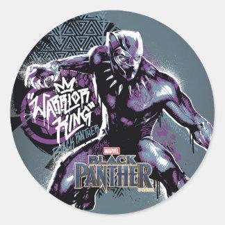 Sticker Rond Graphic de guerrier de la panthère noire | du Roi