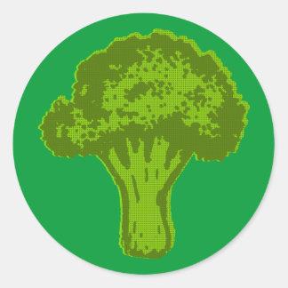 Sticker Rond Graphique de brocoli