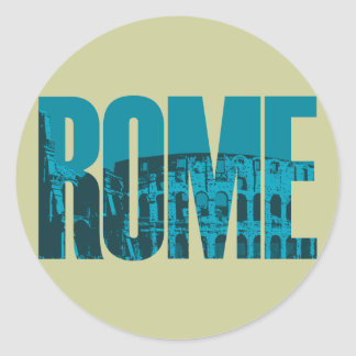 Sticker Rond Graphique de Rome