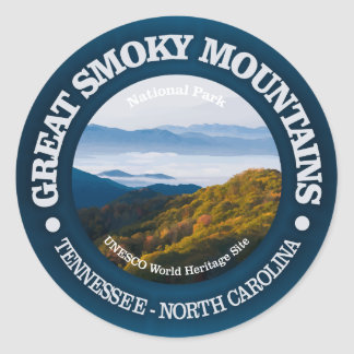 Sticker Rond Great Smoky Mountains