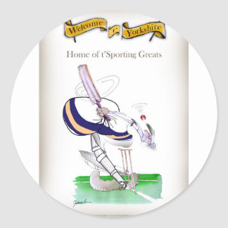 Sticker Rond Greats sportifs de cricket de Yorkshire d'amour '