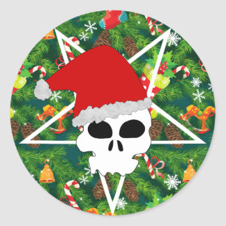 Sticker Rond grêle père Noël