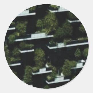 Sticker Rond grenier de jungle