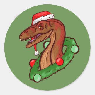 Sticker Rond Griffes de Père Noël
