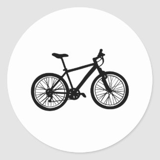 Sticker Rond Griffonnage tiré par la main simple de bicyclette