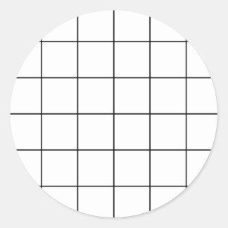Sticker Rond grille noire,    arrière - plan blanc
