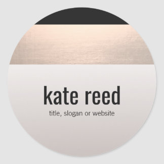 Sticker Rond Gris rose moderne chic de Taupe d'accent d'or