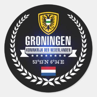 Sticker Rond Groningue