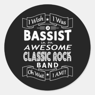 Sticker Rond Groupe de rock classique impressionnant de