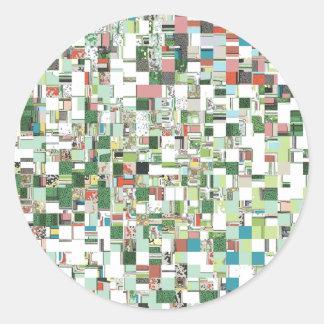 Sticker Rond Groupes chaotiques de vert