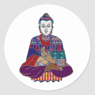 Sticker Rond Guérison de culte de paix de religion de