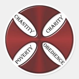 Sticker Rond Guides de Templar de chevaliers pendant la vie
