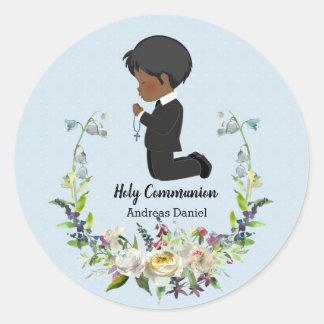 Sticker Rond Guirlande de sainte communion