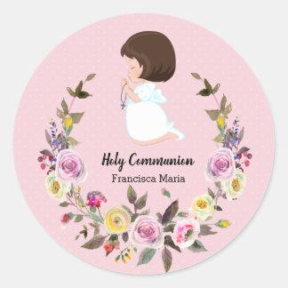 Sticker Rond Guirlande de sainte communion * choisissez la