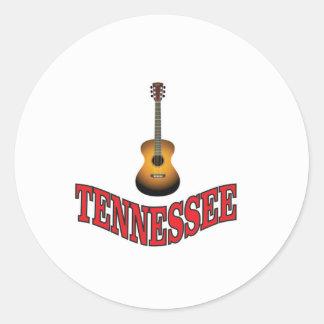 Sticker Rond Guitare du Tennessee