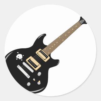 Sticker Rond Guitare électrique
