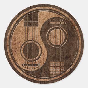 autocollants stickers guitare acoustique. Black Bedroom Furniture Sets. Home Design Ideas