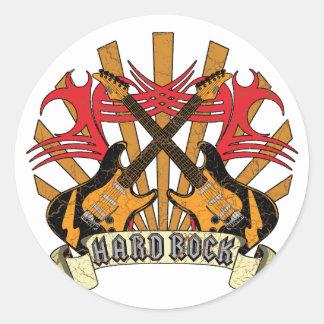Sticker Rond Guitares de hard rock