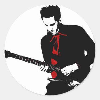 Sticker Rond Guitarist (Francois Ville)