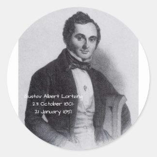 Sticker Rond Gustav Albert Lortzing