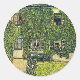 Sticker Rond Gustav Klimt - la Chambre de Guardaboschi
