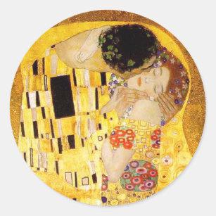 Sticker Rond Gustav Klimt le baiser
