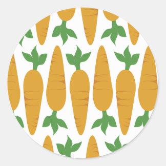 Sticker Rond Gwennie le petit pain : Champ des carottes