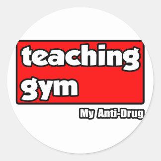 Sticker Rond Gymnase de enseignement… ma Anti-Drogue