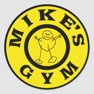 Sticker Rond Gymnase de microphones